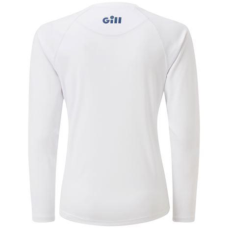 Gill Race Women's Long Sleeve Tee - White - Rear