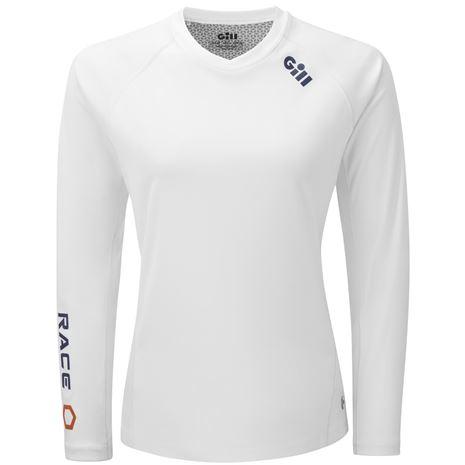 Gill Race Women's Long Sleeve Tee - White