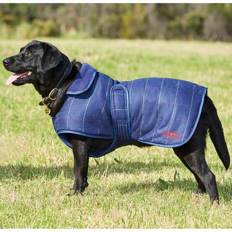 WeatherBeeta Tweed Dog Coat II - Navy