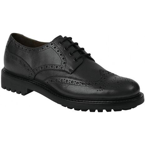 Hoggs of Fife Prestwick Brogue Shoes - Black