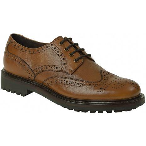 Hoggs of Fife Prestwick Brogue Shoes - Cedar Grain