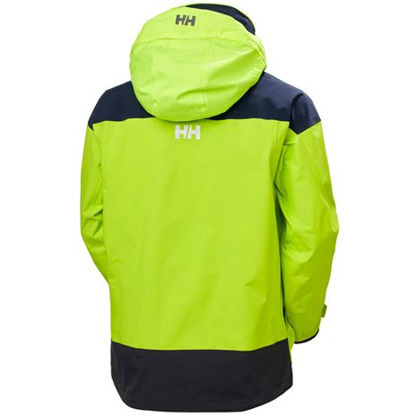 Helly Hansen Pier 3.0 Jacket - Azid Lime - Rear