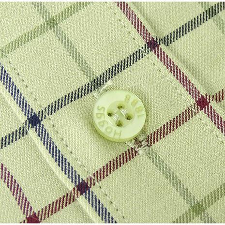 Hoggs of Fife Chieftain Premier Tattersall Shirt - Lovat Check