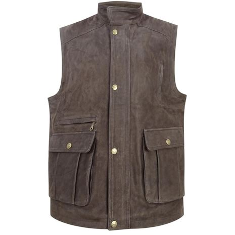 Hoggs of Fife Lomond Leather Waistcoat - Chocolate