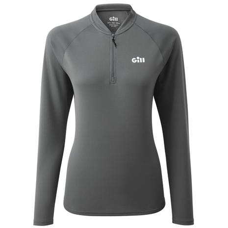 Gill Millbrook Women's Zip Tee - Steel Grey