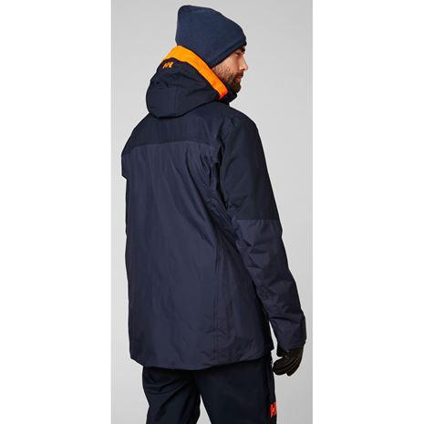 Helly Hansen StraightLine Lifaloft Jacket - Navy - Rear