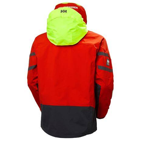 Helly Hansen Skagen Offshore Jacket - Cherry Tomato - Rear