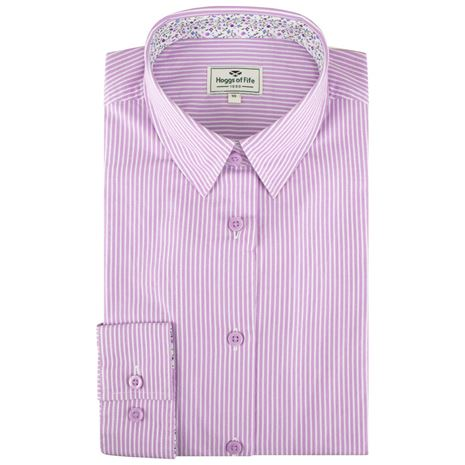 Hoggs of Fife Bonnie II Ladies Cotton Shirt - Blue PInk