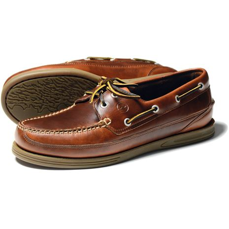 Orca Bay Fowey Gents Deck Shoe in Saddle.