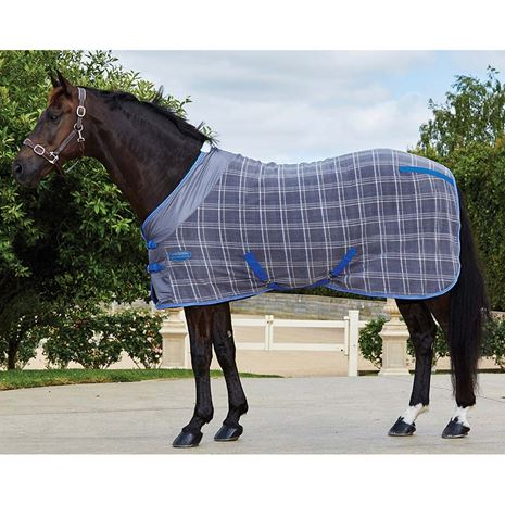 WeatherBeeta Fleece Standard Neck Cooler Rug - Grey Plaid