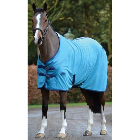 WeatherBeeta Fleece Standard Neck Cooler Rug - Sea Blue/Blue