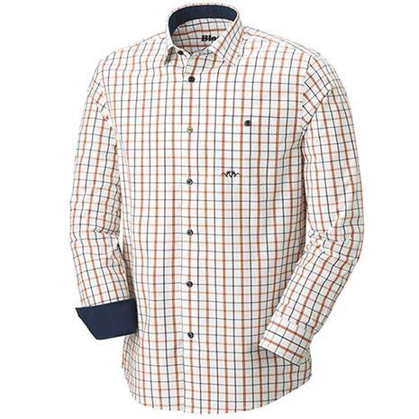 Blaser Oxford Modern Fit Men's Shirt - Navy/Burnt Orange