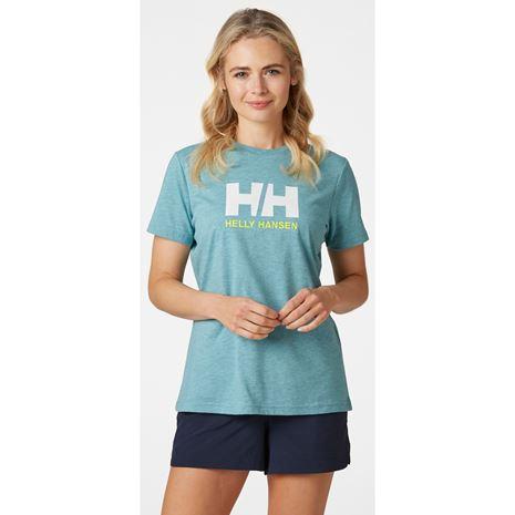 Helly Hansen Womens HH Logo T Shirt - Glacier Blue