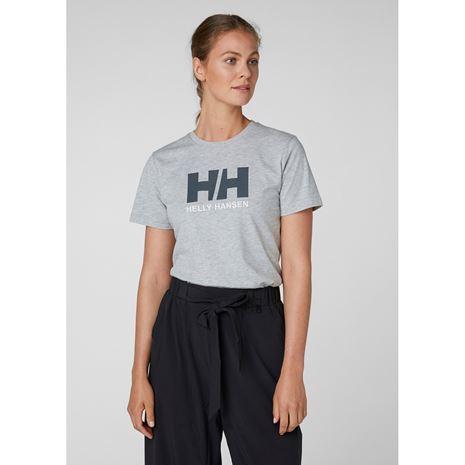 Helly Hansen Womens HH Logo T Shirt - Grey Melange