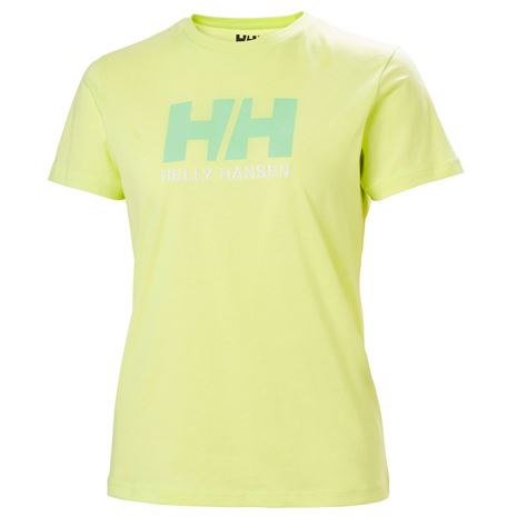 Helly Hansen Womens HH Logo T Shirt - Sunny Lime