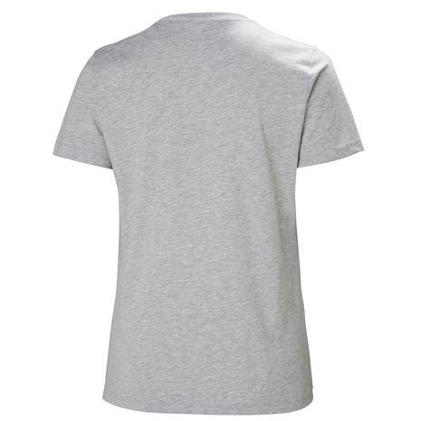 Helly Hansen Womens HH Logo T Shirt - Grey Melange - Rear