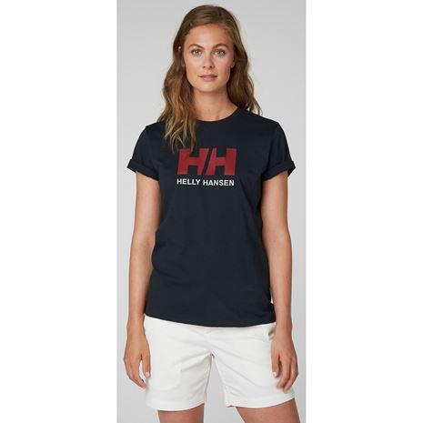 Helly Hansen Womens HH Logo T Shirt - Navy