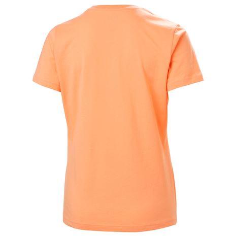 Helly Hansen Womens HH Logo T Shirt - Melon - Rear