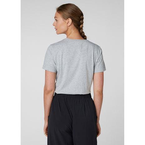 Helly Hansen Womens HH Logo T Shirt - Grey Melange Lifestyle
