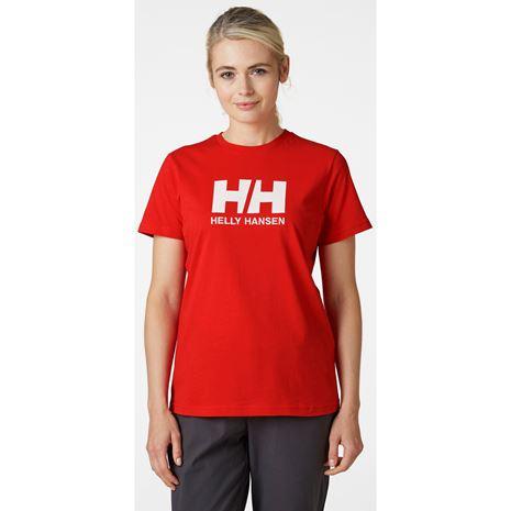 Helly Hansen Womens HH Logo T Shirt - Alert Red