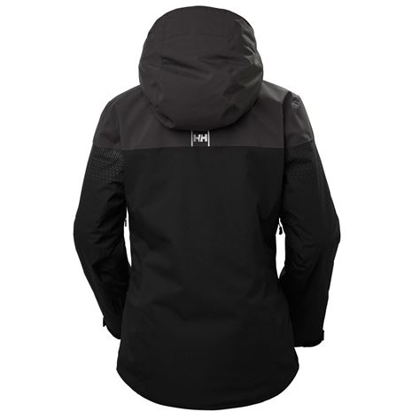 Helly Hansen Womens Motionista Lifaloft Jacket - Black - Rear